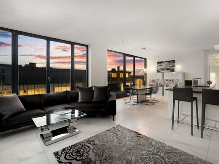 THE MILE möbliertes Penthouse - Dachterrasse, Blick über Berlin Mitte & Luxus Küche