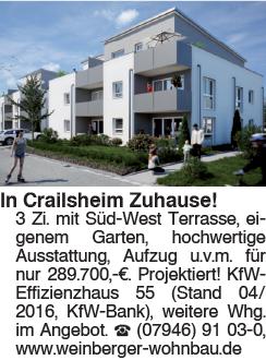 In Crailsheim Zuhause