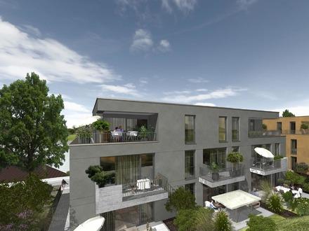 Zentrales FLAIR-Wohnen - Neubau-Wohnungen, mit einer Terrasse, Gäste-WC, TG-Stellplatz möglich