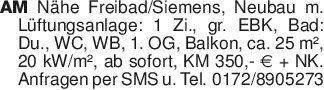 AM Nähe Freibad/Siemens, Neuba...