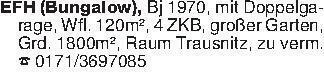 EFH (Bungalow), Bj 1970, mit D...