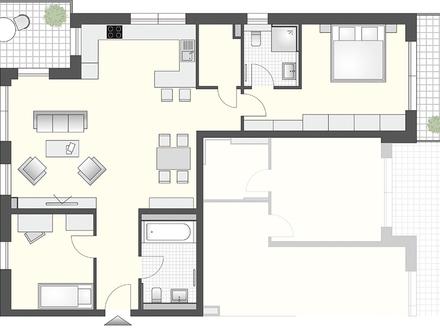 Sonnige 3 Zimmer mit 2 Balkonen und 2 Bädern!