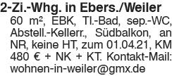 2 Zi. Whg. in Ebersbach