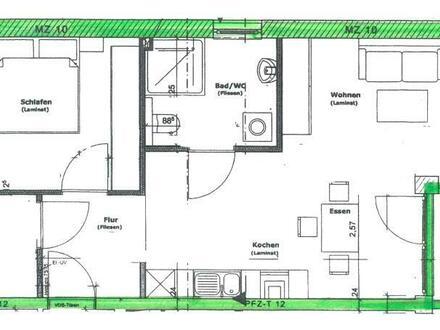 Zur Miete: Neuwertige 2-Zimmer Wohnung mit Balkon.