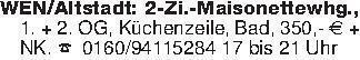 WEN/Altstadt: 2-Zi.-Maisonette...
