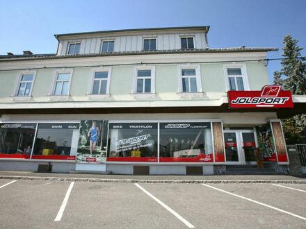 Klagenfurt - Feldkirchnerstraße: Geschäftslokal in stark frequentierter Lage mit rd. 14 Lfm. Schaufensterfront und ausreichend…