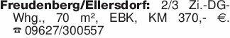 Freudenberg/Ellersdorf: 2/3 Zi...