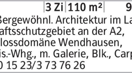 3-Zimmer Mietwohnung in Braunschweig (38108) 110m²