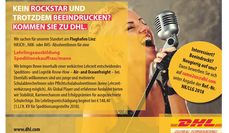 Wir suchen für unseren Standort am Flughafen Linz HASCH-, HAK- oder AHS- AbsolventInnen für eine Lehrlingsausbildung Speditionskauffrau/mann