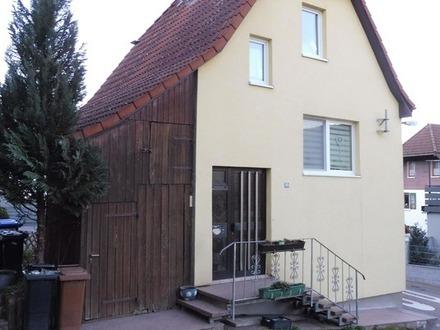 Saniertes Haus auf kleinem Grundstück