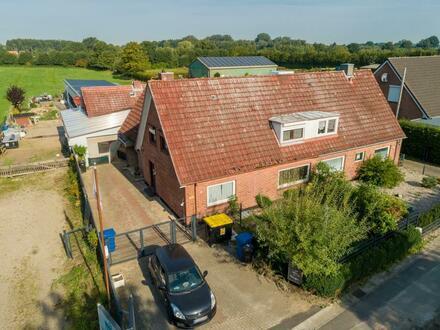 ARBEITEN & WOHNEN - Doppelhaushälfte mit Bürohaus & Werkhalle in Ellerhoop