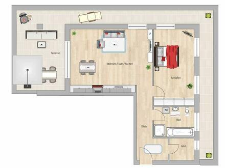 **Baustart bereits erfolgt**2 Zimmer, Bad mit Fenster! und 50 m² Dachterrasse**