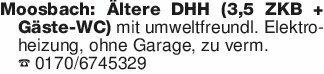 Moosbach: Ältere DHH (3,5 ZKB...