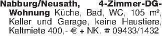 Nabburg/Neusath, 4-Zimmer-DG-W...