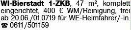 Mietwohnung in Wiesbaden-Bierstadt (65191)