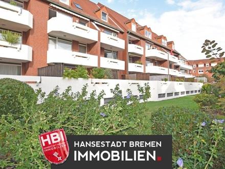RESERVIERT! Findorff / Anlage/ Gepflegte 2-Zimmer-Wohnung mit großer Südterrasse und PKW-Stellplatz