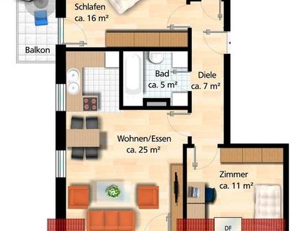3 ZKDu ca. 64 m² 03/19 450,- 80,- Nö, helle DG-Wo m.Flair, 2 BLK, Ke, Dachb.,...