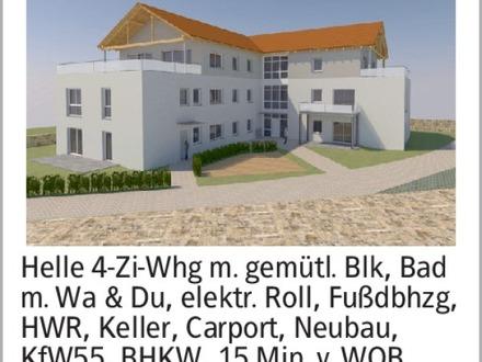 Helle 4-Zi-Whg m. gemütl. Blk, Bad m. Wa & Du, elektr. Roll, Fußdbhzg,...