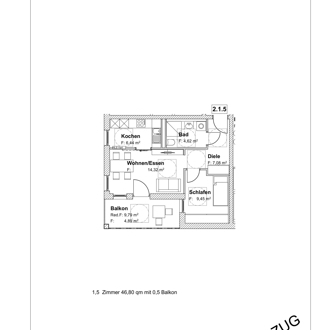 Eine 1,5-Zimmer-Neubauwohnung in Burghausen