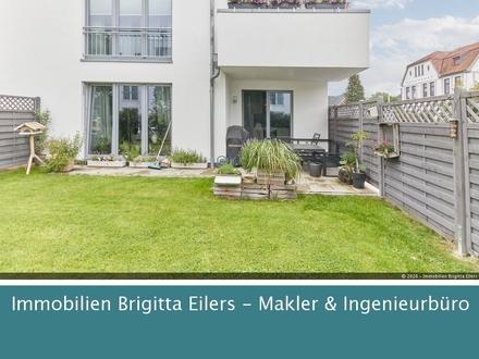 Herrliche 3-Zimmer-Wohnung mit kompletter Einbauküche, Süd-West Terrasse und Garten!