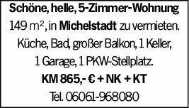 4-Zimmer Mietwohnung in Michelstadt (64720)