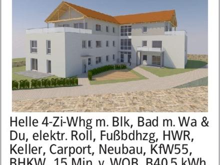 Helle 4-Zi-Whg m. Blk, Bad m. Wa & Du, elektr. Roll, Fußbdhzg, HWR, Keller,...