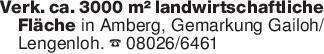 Verk. ca. 3000 m² landwirtsch...