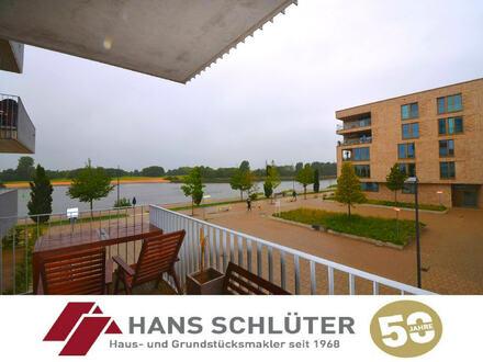 Überseestadt: Großzügige 3-Zimmer-Wohnung mit 2 Balkonen !