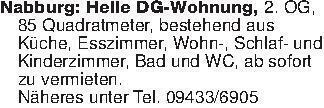 Nabburg: Helle DG-Wohnung, 2....