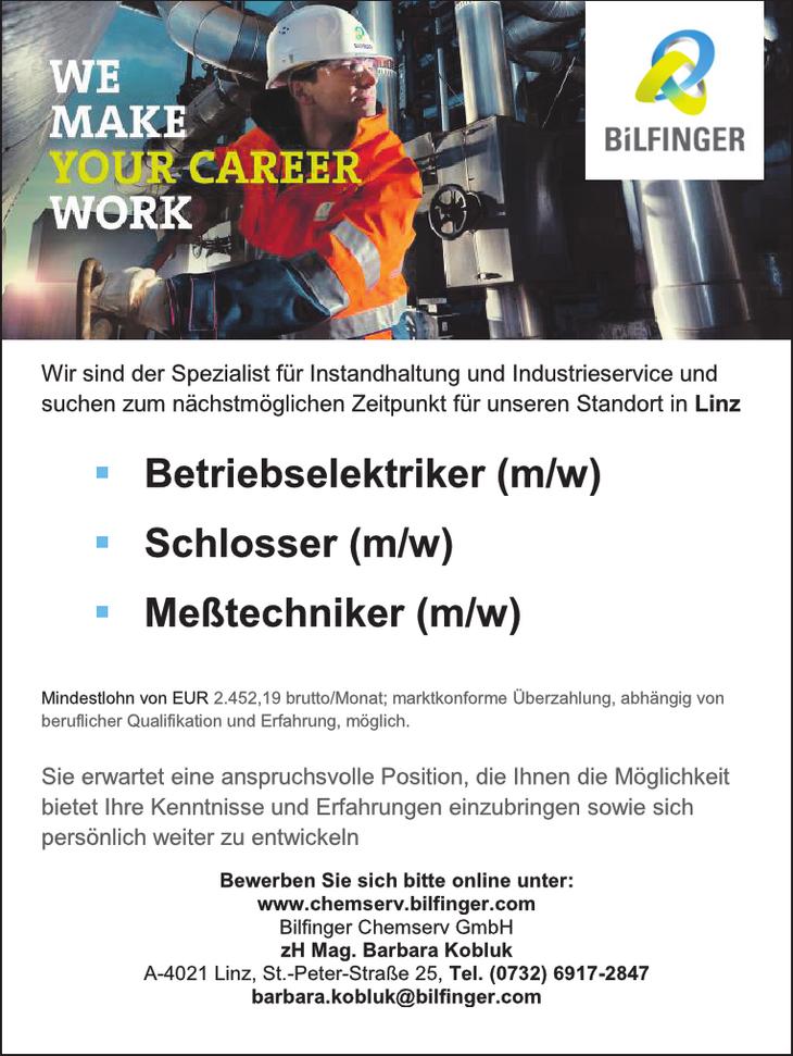 Wir sind der Spezialist für Instandhaltung und Industrieservice und suchen zum nächstmöglichen Zeitpunkt für unseren Standort in Linz ...
