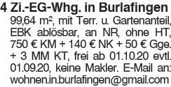 4 Zi. EG Whg. in Burlafingen