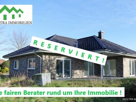 Exklusives Wohnen auf einer Ebene - hochwertiger Neubau-Winkelbungalow in Neubörger