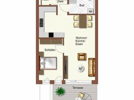 Erstbezug: attraktive 2-Zimmer Wohnung mit EBK