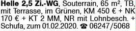 2-Zimmer Mietwohnung in Pfeddersheim (67551)