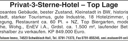 Privat-***Hotel- Top-Lage altershalber zu verkaufen
