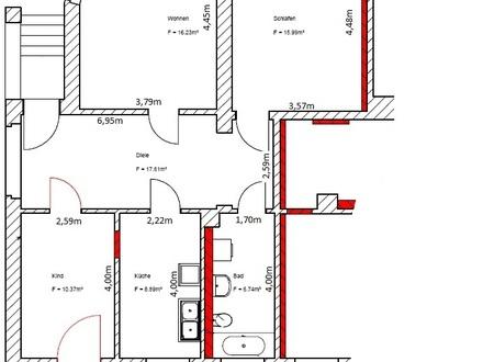 3 Raum Wohnung mit großem Garten in Oederan