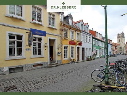 Im Dornröschenschlaf: Zwei denkmalgeschützte Häuser mitten in der Altstadt von Münster
