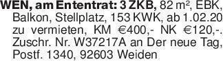 WEN, am Ententrat: 3 ZKB, 82 m...