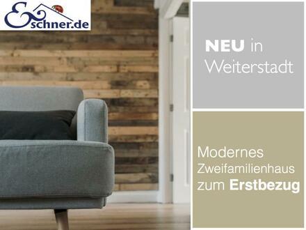Neu in Weiterstadt: Modernes Zweifamilienhaus zum Erstbezug