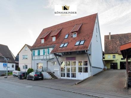 Helle 2-Zimmer-Maisonette-Wohnung mit Stellplatz in zentraler Lage Mötzingens zu verkaufen