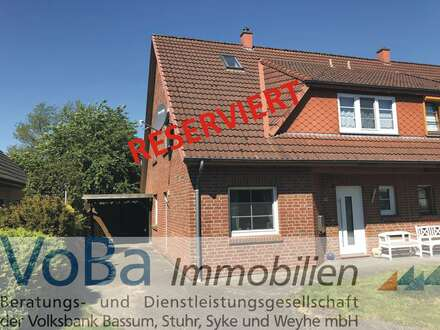 Idyllische Doppelhaushälfte im ländlichen Groß Mackenstedt