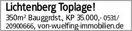 Lichtenberg Toplage!