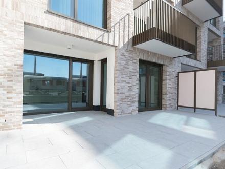Hochwertige 4-Zimmer-Neubau-Wohnung mit Sonnenterrasse direkt an der Weser