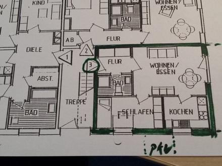 EG-Wohnung mit Terrasse, Stellplatz + Keller