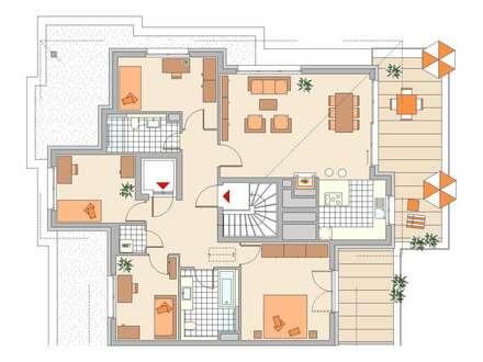 Sie können nur gewinnen ! Große 5-Zimmer-Wohnung im Penthouse mit zwei Dachterrassen !