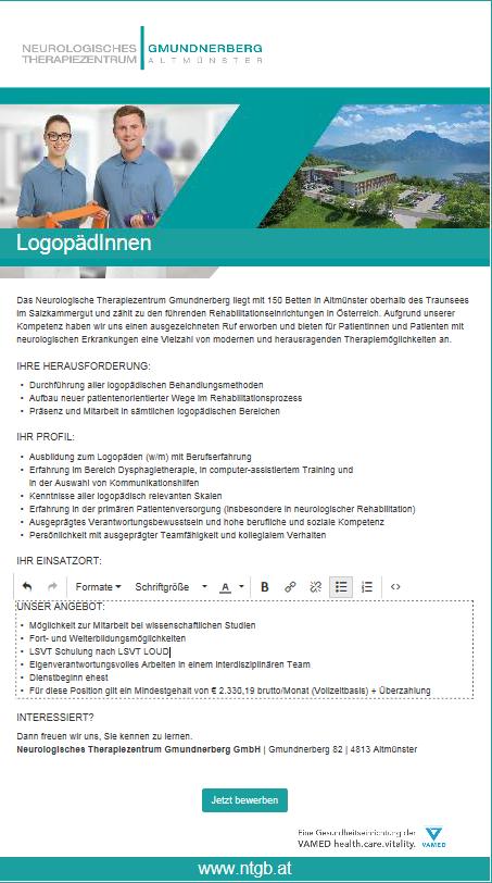 Logopädie, Therapie, Altmünster, Gmunden