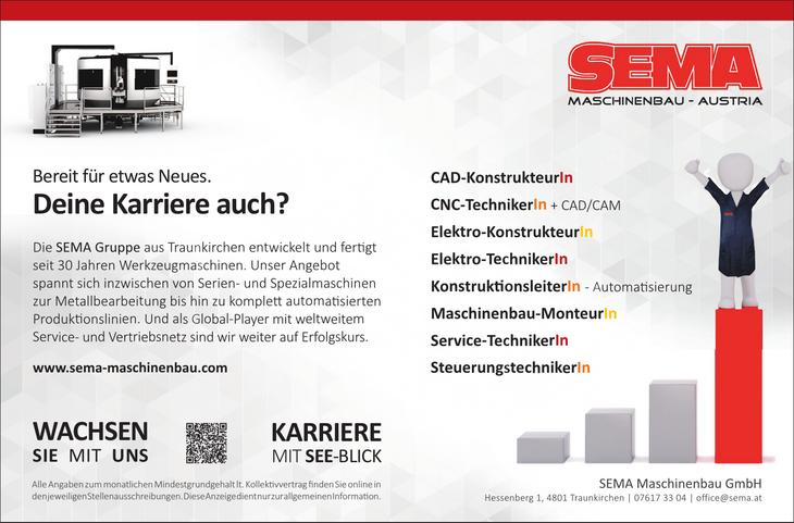 Die SEMA Gruppe aus Traunkirchen entwickelt und fertigt seit 30 Jahren Werkzeugmaschinen. Unser Angebot spannt sich inzwischen von Serien- und Spezialmaschinen zur Metallbearbeitung bis hin zu komplet