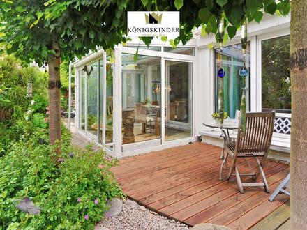 Hochwertige 4-Zimmererdgeschosswohnung mit umlaufender Terrasse und Gartentraum