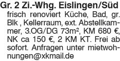 gr.2 Zi Wgh. Eislingen