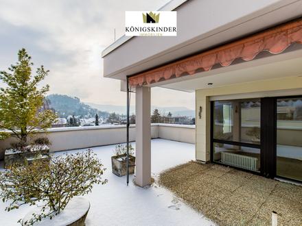 In ruhiger Lage mit Panoramablick: Individuelle Terrassenwohnung mit Galerie